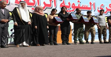 """الذكرى السنوية الرابعة لتحرير مدينة الرقة من تنظيم """"داعش الإرهابي"""""""